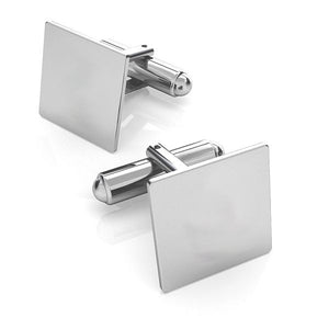 Simple Silver Square Cufflinks