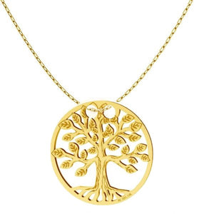 Solid Gold Tree of Life Necklace