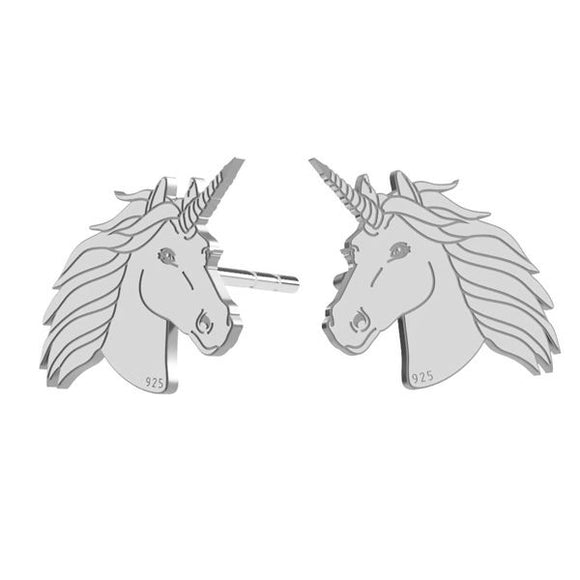 I believe in Magic | Unicorn Post Silver Earrings, [product type], - Personalised Silver Jewellery Ireland by Magpie Gems