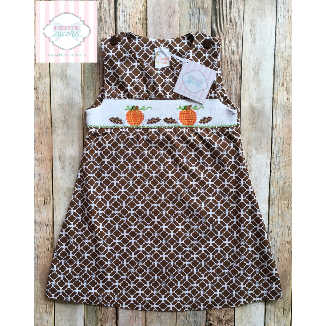 Fall themed smocked dress 3