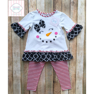 Snowman themed two piece 2T