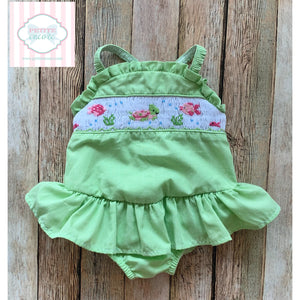 Smocked swimsuit by The Bailey Boys 9m