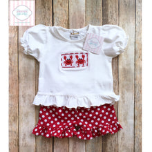 Crab themed smocked two piece 6m