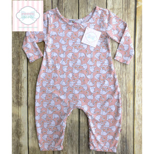 Swan themed one piece by Pickles n' Roses 12-18m