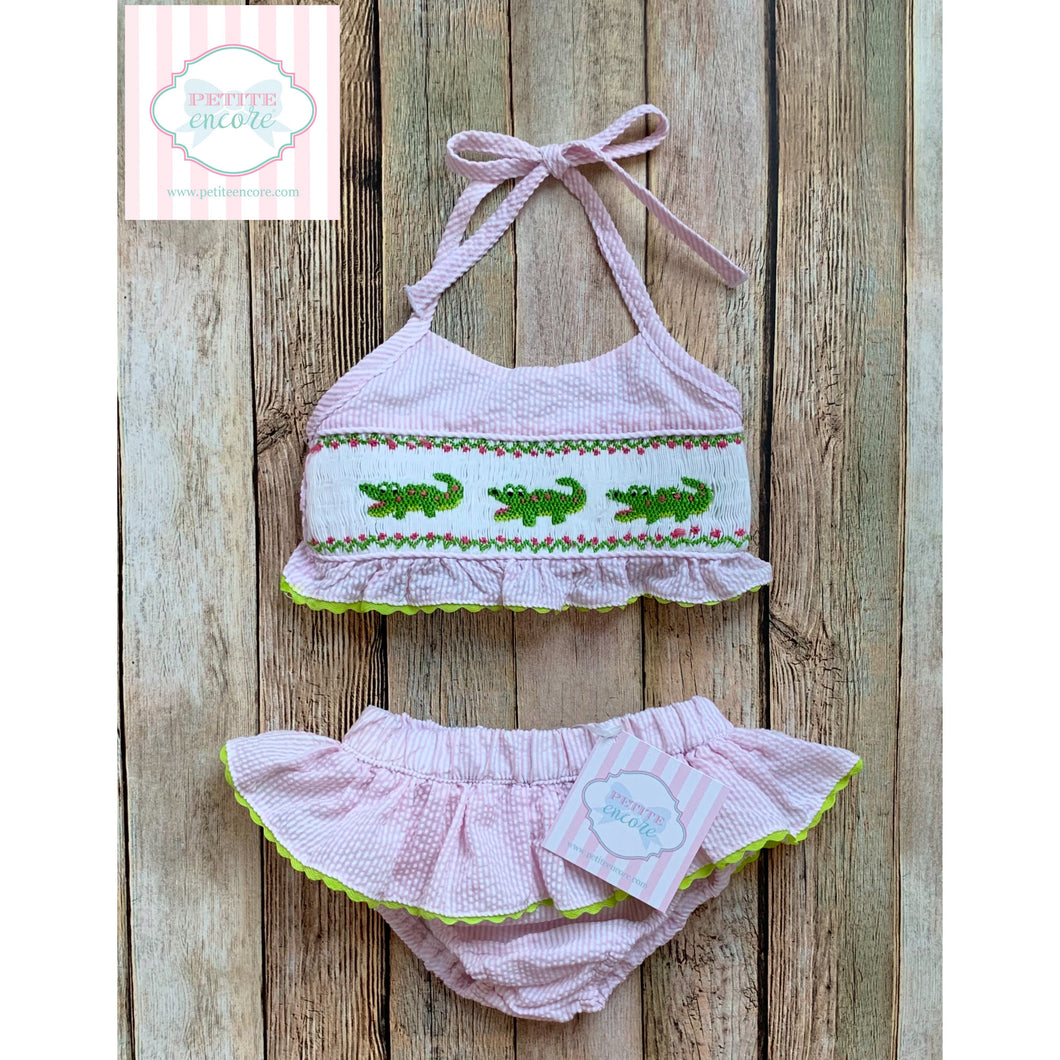 Alligator themed two-piece swimsuit 9m