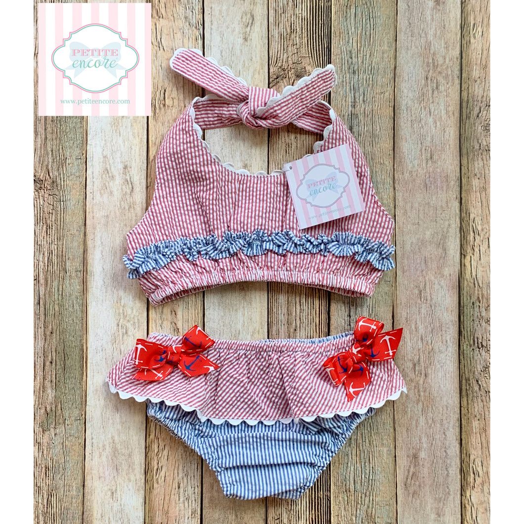 Mud Pie Baby two piece swimsuit 18m