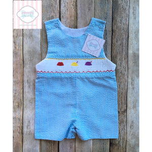 Fishing themed smocked one piece 9m
