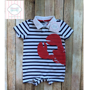 Lobster themed one piece 18m