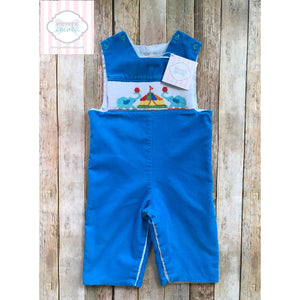 Circus themed smocked one piece 12m