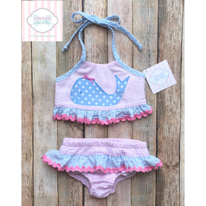 Whale themed two piece swimsuit 18m