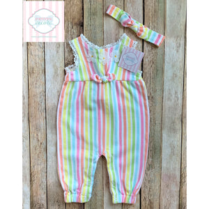 One piece with matching headband 12m
