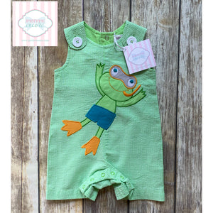 Frog themed one piece 6m