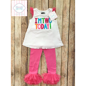 Mud Pie birthday outfit 24m/2T
