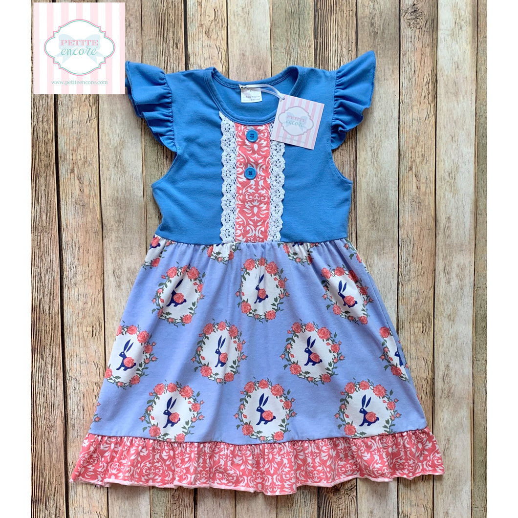 Bunny themed dress 4-5