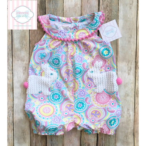 Mud Pie Baby Easter themed one piece 12-18m
