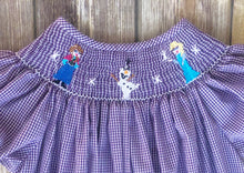 Frozen themed smocked dress 8