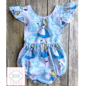 Alice themed one piece 12-18m