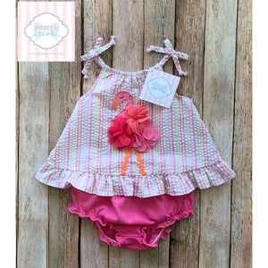 Flamingo themed two piece 9m