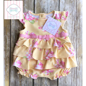 Gymboree floral bubble 0-3m
