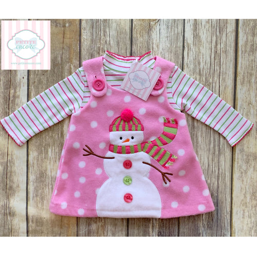 Snowman two piece by Bonnie Baby 3-6m