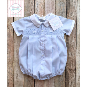 Smocked one piece by Friedknit Creations 6m