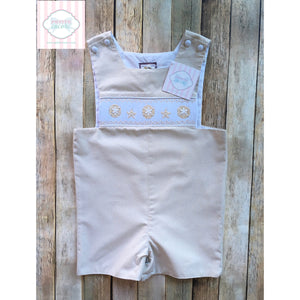 Smocked one piece by Shrimp & Grits 3T