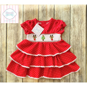 Holiday dress by Mud Pie Baby 6-9m