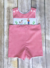 Smocked one piece 6m