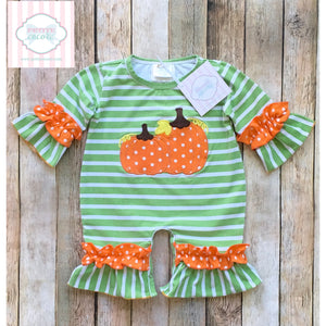 Pumpkin themed one piece 0-3m