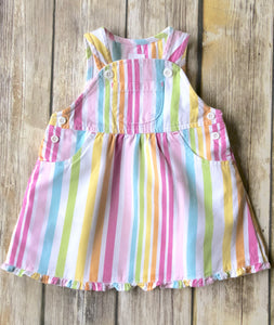 Gymboree overall dress 6-12m