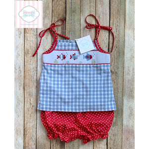 Smocked two piece by Castles and Crowns 18-24m