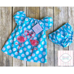 Flamingo themed two piece by Nursery Rhyme 6-9m
