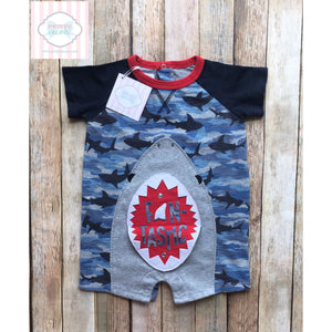 Shark themed one piece by Mud Pie Baby 12-18m