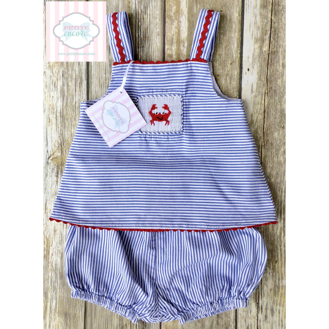 Little Threads smocked two piece 3m