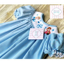 Frozen themed smocked dress by Babeeni 6m