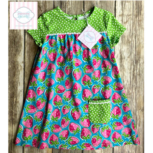 Strawberry themed play dress 4T