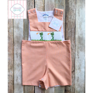 Golf themed smocked one piece 12m