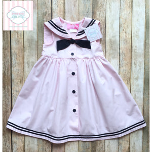 Pink Sailor dress 3T