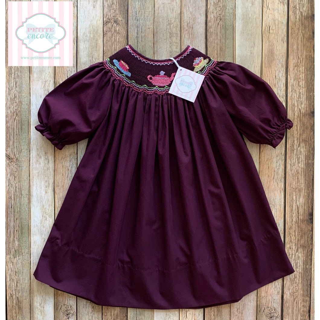 Smocked dress by Rosalina 2T
