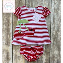 Cherry themed two piece by Hartstrings 3-6m
