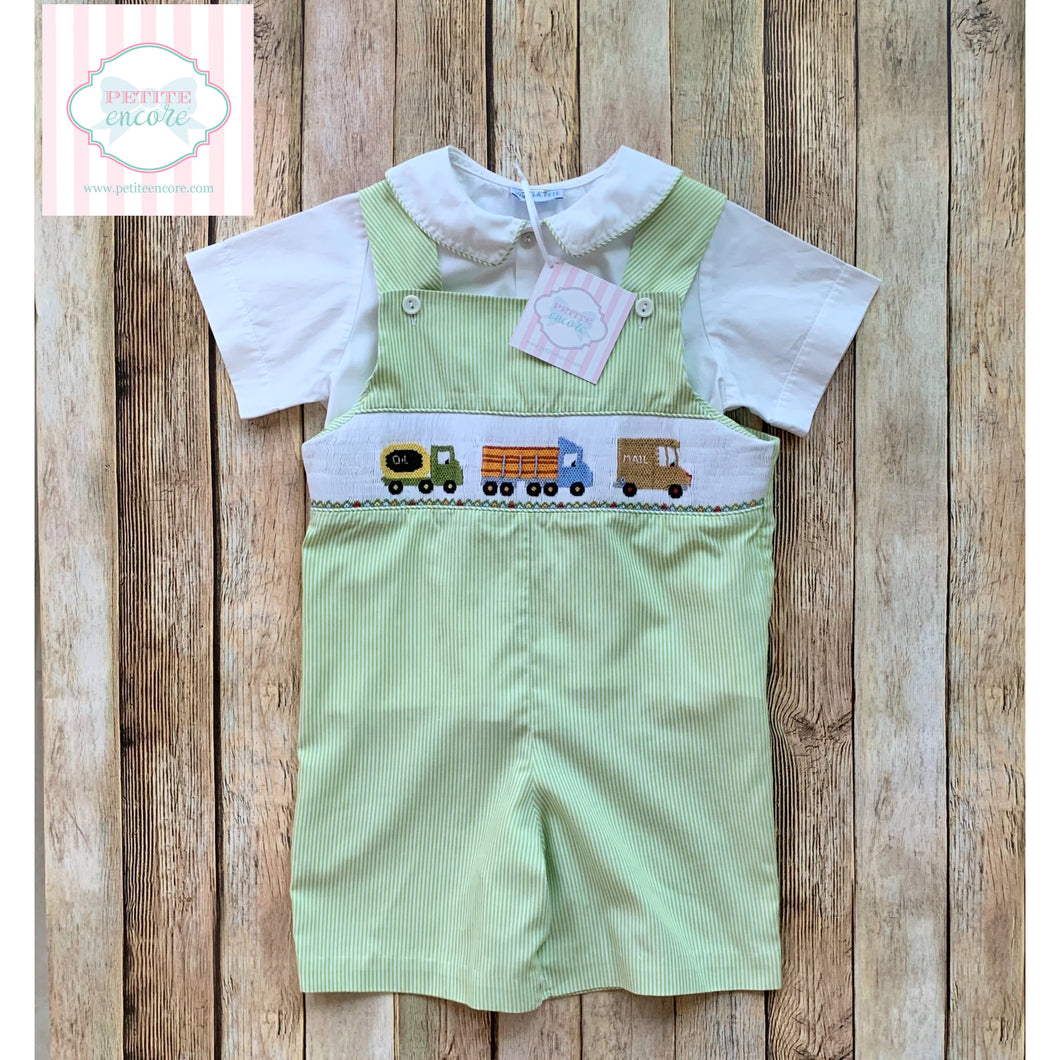 Truck themed smocked two piece by Vive La Fête 3