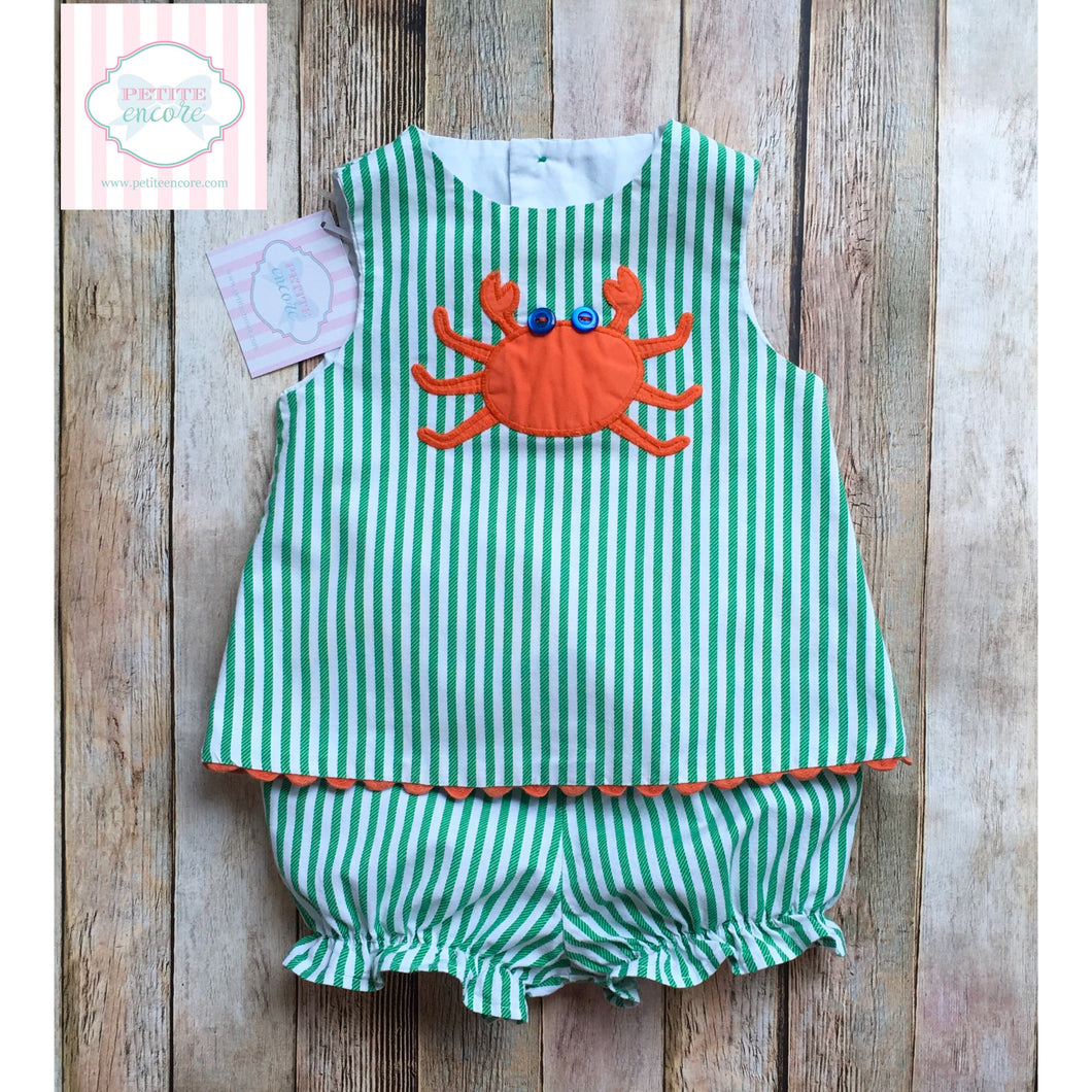 Crab themed two piece by The Bailey Boys 12m