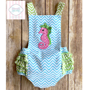 Seahorse themed one piece 9m