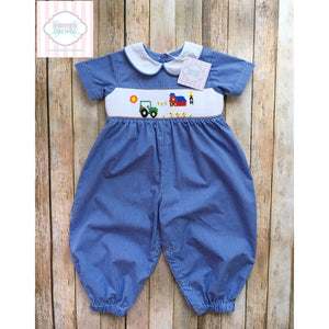 Farm themed smocked one piece 18m