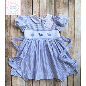 Whale themed smocked dress 4T