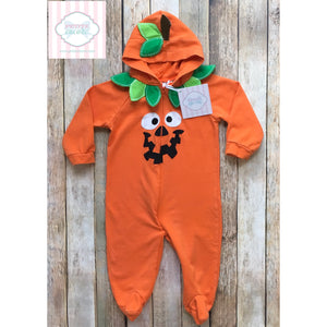 Pumpkin themed one piece 3-6m