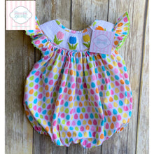 Tulip themed smocked bubble by Babeeni 12m