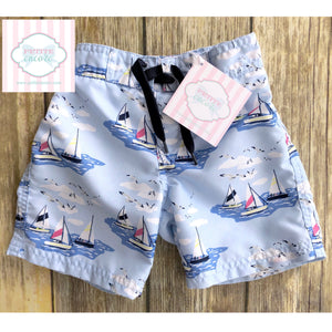 Janie and Jack swim trunks 12-18m