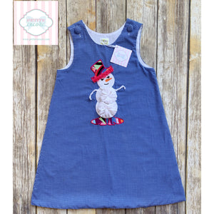 Snowman themed holiday dress 6