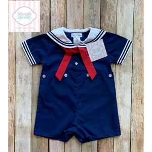 Nautical one piece by Petit Pomme 6m